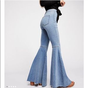 Free people just float on flared jeans